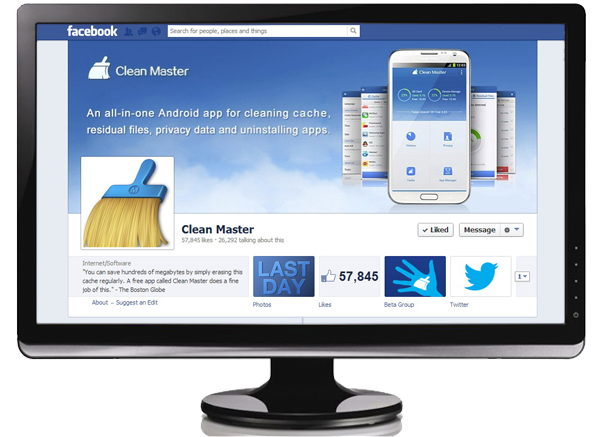 Clean Master's Facebook Page